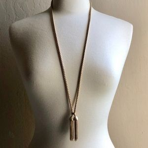 NEW Lane Bryant Gold Adjustable Tassel Necklace